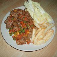 Kuřecí játra se zeleninou recept