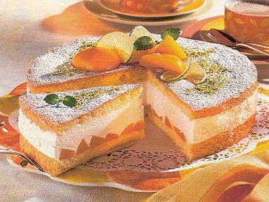 Broskvový dort s limetkou