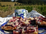 Křehký švestkový koláč recept