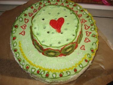 Narozeninový piškotový dort
