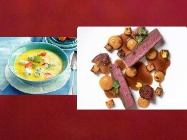 Sváteční oběd 31  Šampaňská polévka a Mufloní hřbet