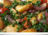 Pečené zeleninové brambory recept