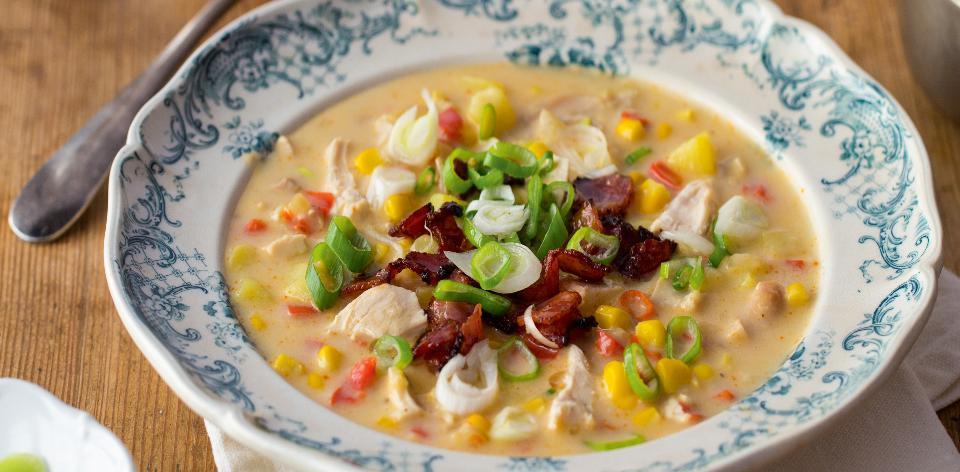 Kuřecí krémová polévka s kukuřicí