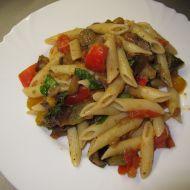 Těstoviny s lilkem recept