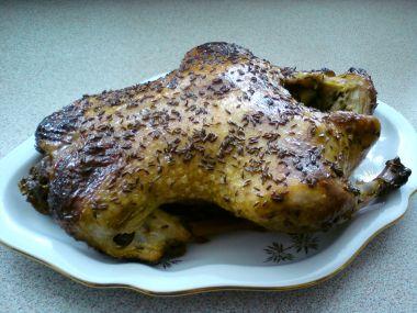 Kachna pomalu pečená s medem