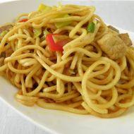 Pikantní špagety s krůtím masem recept