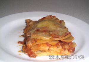 Lasagne s rajčaty