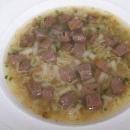 Polévka s játrovými knedlíčky recept