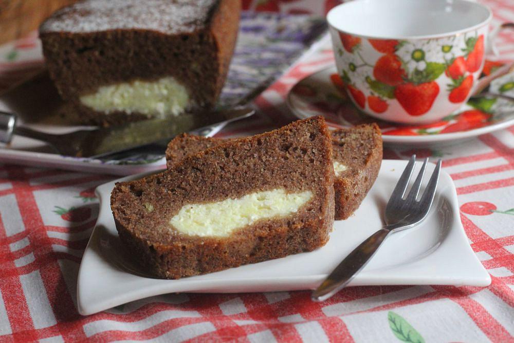 Skořicový chlebíček s tvarohovým středem recept