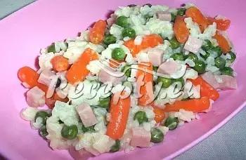 Sýrové rizoto se zeleninou a šunkou recept  recepty pro děti ...