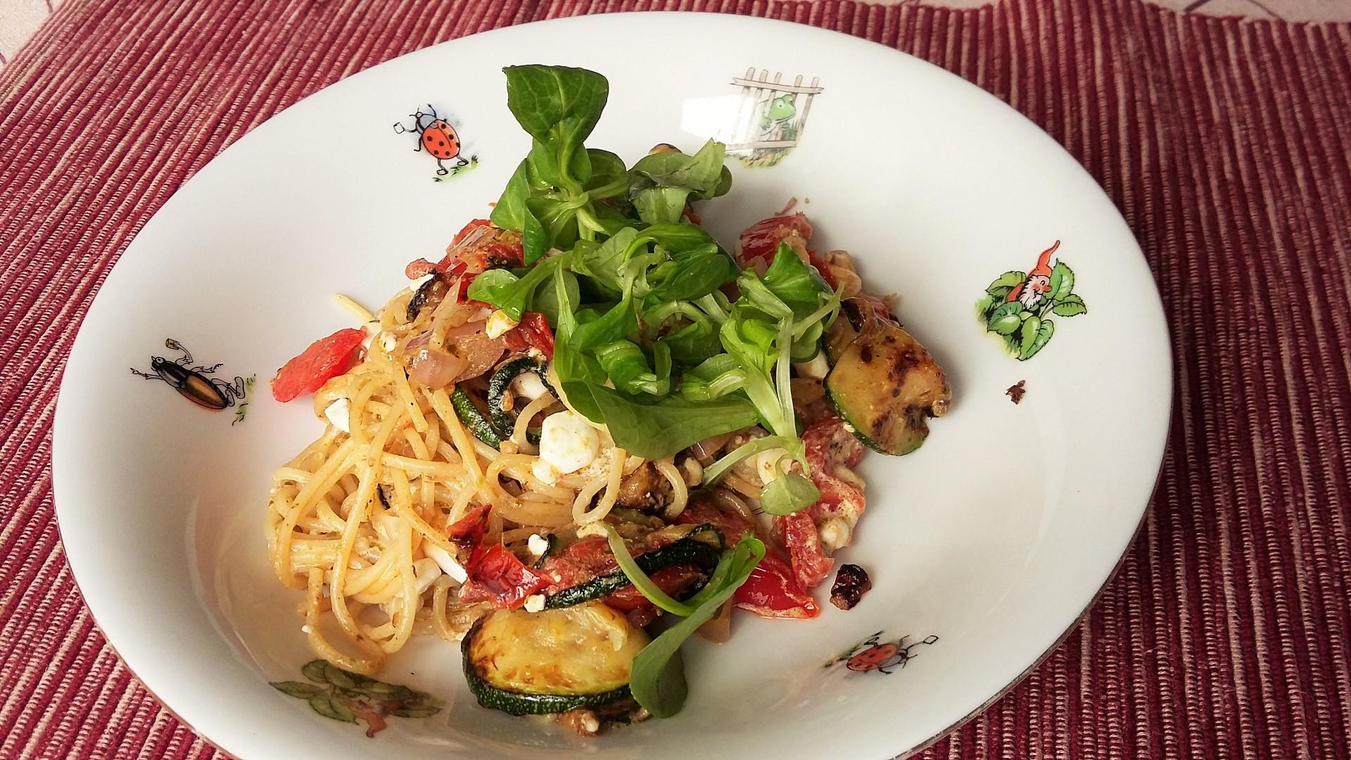 Express špagety s cuketou, rajčaty a cottage sýrem recept ...