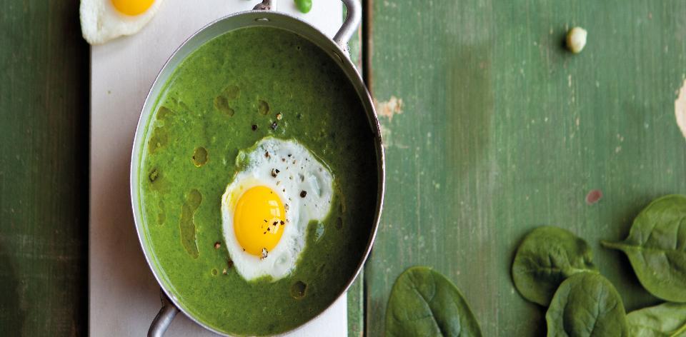 Hráškovo-špenátová polévka