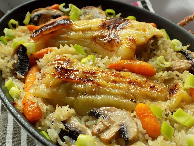 Plněné papriky pečené s rýži v jednom pekáčku recept ...