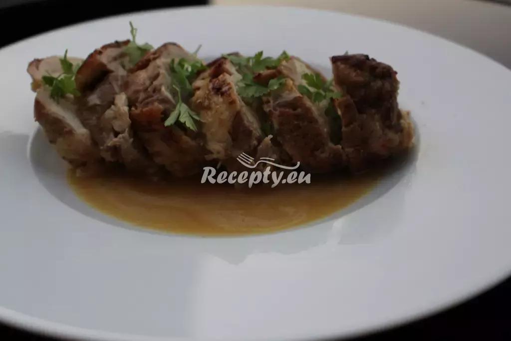 Vepřová roláda s pancettou recept  vepřové maso