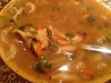 Polévka z hlívy ústřičné, drštek a zeleniny recept
