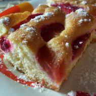 Švestkový koláč z piškotového těsta recept