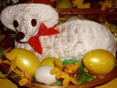 Jednoduchý Velikonoční beránek