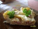 Mušle plněné uzeným kuřecím masem recept