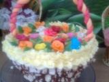 Košík s květinami recept