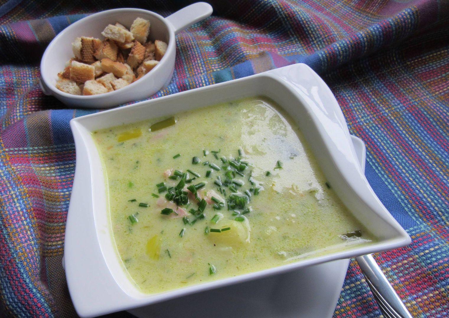 Pórková polévka se sýrem-rychlá a jednoduchá recept  TopRecepty ...