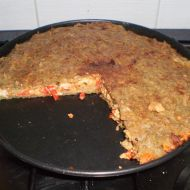 Plněný bramborákový koláč recept