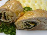 Kuřecí stehno plněné vaječnou omeletou s medvědím česnekem ...