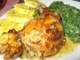 Králík na uzeném česneku, čerstvé majoránce a slanině s domácím ...