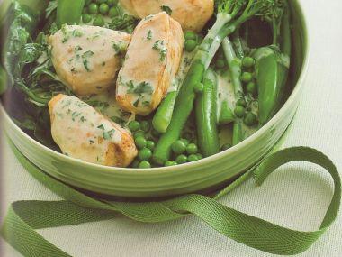 Kuřecí nugety s mladou zeleninou