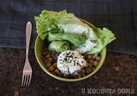 Pohankový salát s cizrnou a žampiony recept