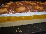 Broskvový koláč se šlehačkou recept