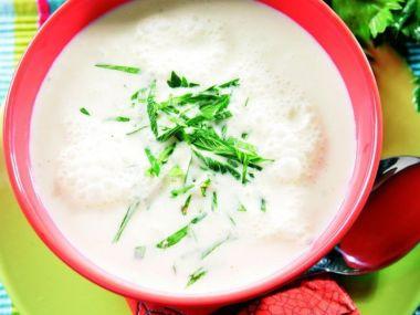 Celerová polévka s jíškou a nočky