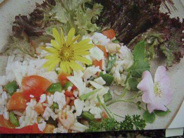 Červený rýžový salát