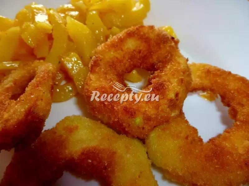 Cuketové kroužky s opečenými bramborami recept  zeleninové ...