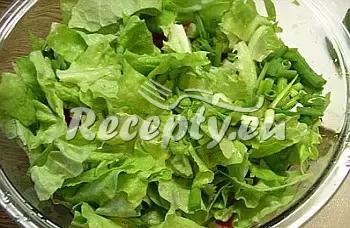 Salát s jogurtovou omáčkou a krůtími špízy recept  saláty