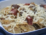 Těstoviny se smetanou, nivou a česnekem recept