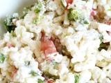 Těstovinový salát s čerstvou zeleninou recept