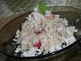 Salát z těstovinové rýže se šunkou a zeleninou recept