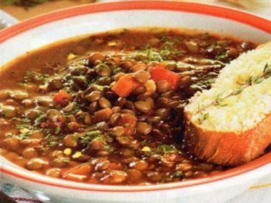 Čočková polévka Novoroční