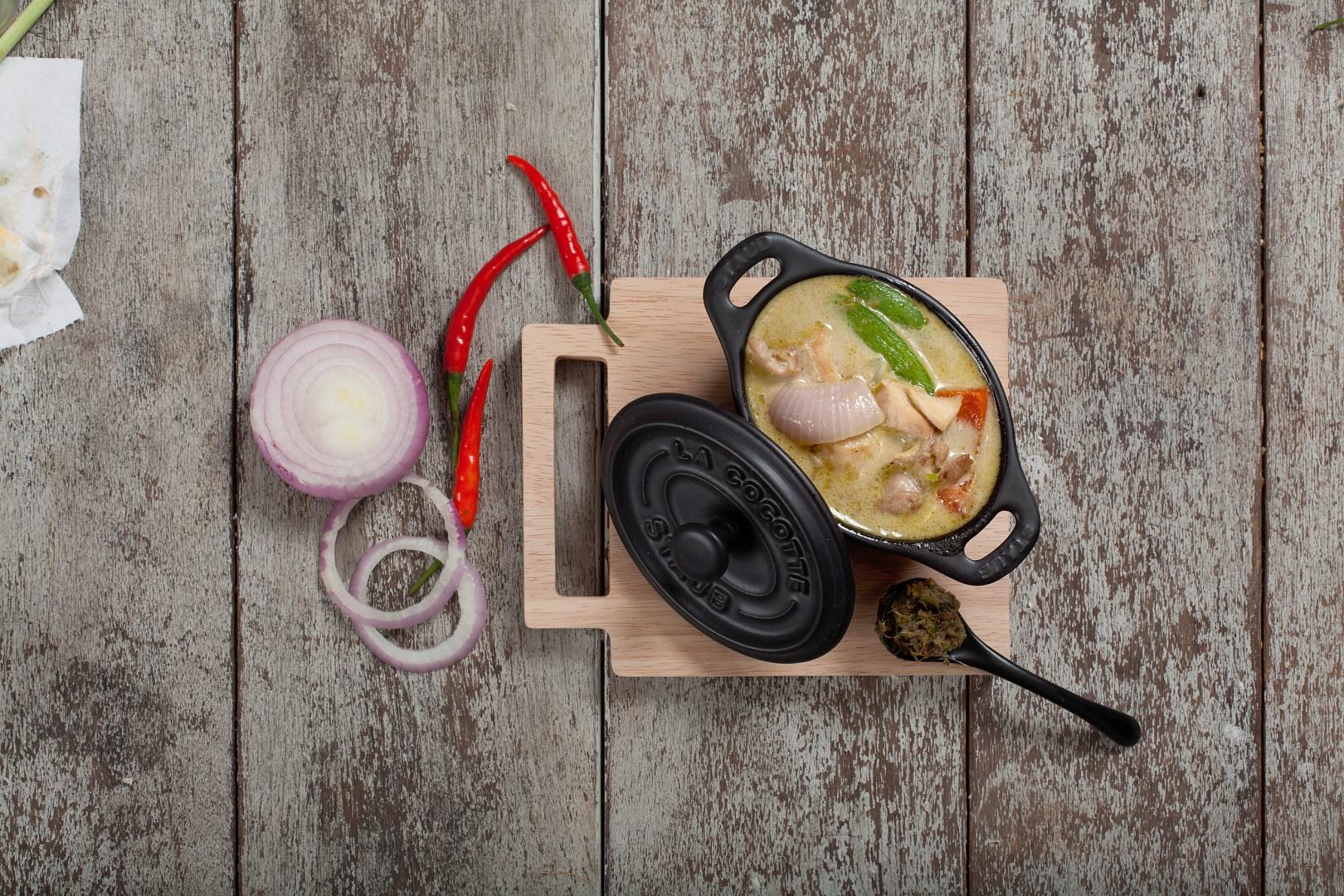 Zelené kuřecí kari recept