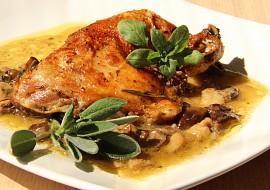 Bylinkové kuře na hříbcích recept