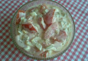 Přesnídávkový rajčatový salát
