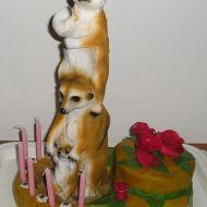 Surikatí potahovaný dort recept