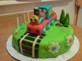 Marcipánový dort s mašinkou recept