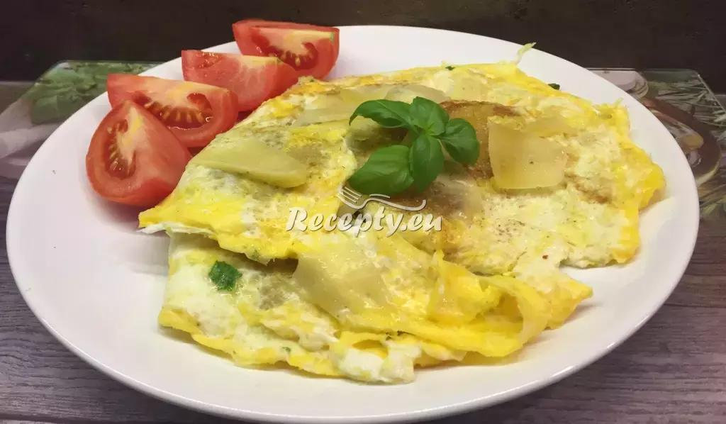 Vaječná omeleta recept  jídla z vajec