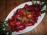 Salát z červené řepy, mrkve a celeru recept