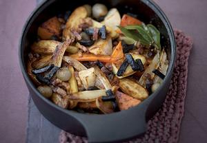 Dušená zelenina s lanýži
