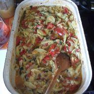 Pečená dýně s rajčaty a paprikou recept