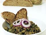 Čočkový salát s kyselými okurkami recept