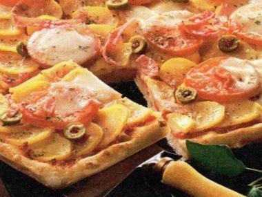 Pizza s ovčím sýrem