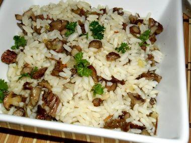 Rýže s houbami a vařeným masem